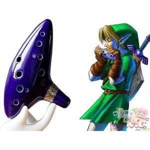 AFUNTA-12-Hole-Ocarina-Ceramic-Alto-C-Legend-of-Zelda-Ocarina-Flute-traversiere-with-book-of-songs-Cord-necklace