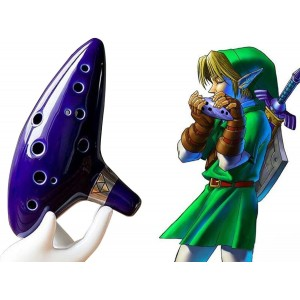 AFUNTA-12-Hole-Ocarina-Ceramique-Alto-C-Legend-of-Zelda-Ocarina-Flute-traversiere-avec-livre-de-chansons-Collier-cordon-avec-cou