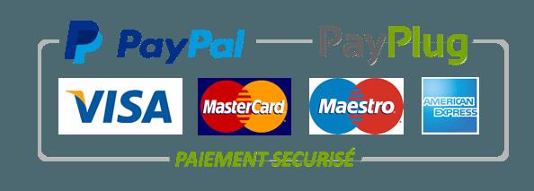 Paiement par Visa, Mastercard, PayPal, PayPlug